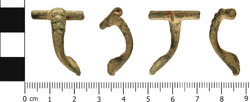 WMID-AA76D6: Roman: Incomplete East Midlands Enamelled Brooch