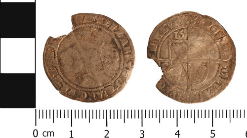 WMID-ABF408: Post medieval coin: Sixpence of Elizabeth I