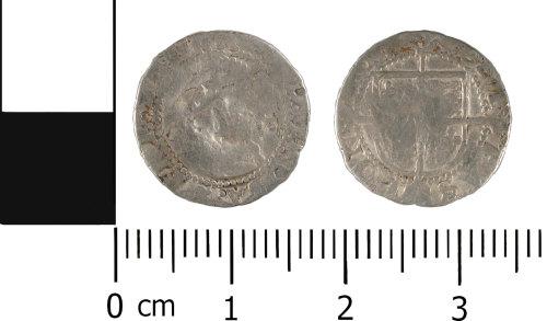 WMID-C152B5: Post Medieval coin: Half groat of Elizabeth I