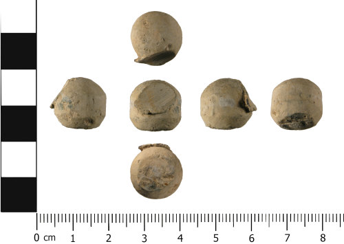 WMID-C88FB0: Post medieval: Complete musket ball or shot