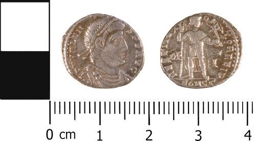 WMID-D0AC40: Roman coin: Complete siliqua of Valens