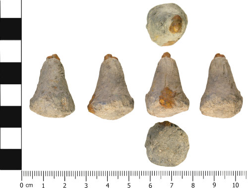 WMID-D0C618: Medieval to Post medieval: Incomplete suspension / pyramidal weight