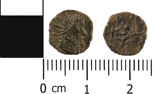 WMID-DFD6FC: Roman coin: Contemporary (barbarous) copy of a radiate of Tetricus I