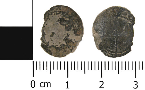 WMID-E08496: Post medieval coin: Penny of Elizabeth I