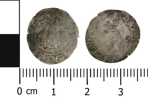 WMID-F11566: Post medieval coin: Complete half groat of James I