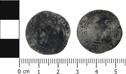 LVPL-01C2D2: Post Medieval coin: Groat of Elizabeth I