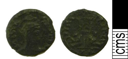 LVPL-3557E1: Roman coin: Nummus of uncertain Emperor