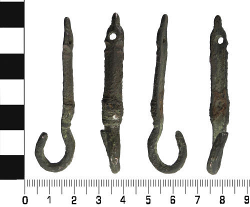 LVPL-E136E1: Medieval to Post Medieval: Hooked strap fitting