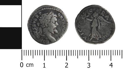 LVPL-E1EFB3: Roman Coin: Denarius of Septimus Severus