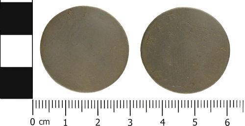 WMID-3154A2: WMID-3154A2: Post Medieval coin: Irish halfpenny of George III