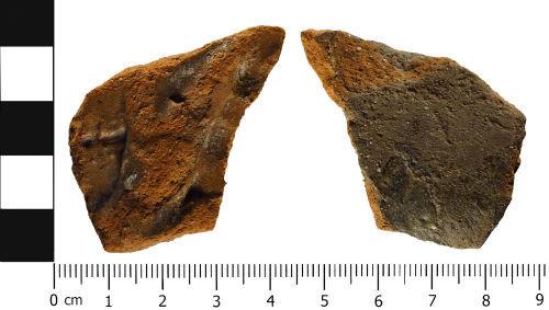 WMID-353A52: Medieval: Worcestershire glazed jug bodysherd