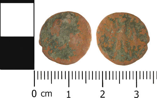 WMID-4F5F75: Roman coin: Nummus of House of Valentinian