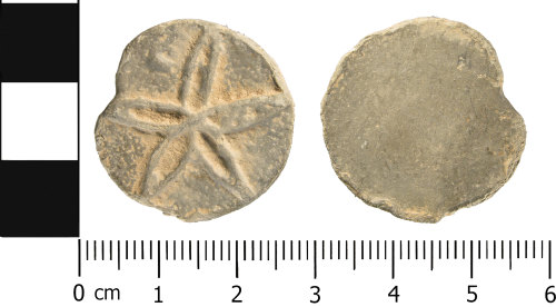 WMID-5C5356: Medieval to Post medieval: Complete unifaced lead token