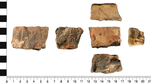 WMID-73EAED: Medieval: Incomplete ceramic glazed floor tile