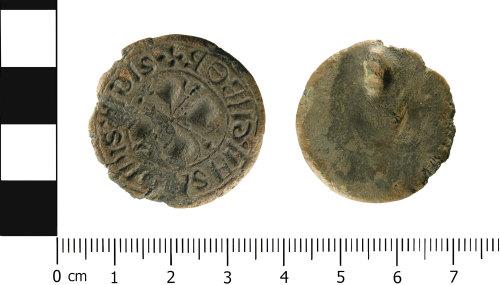 WMID-C9ED9B: Medieval: Incomplete flat seal matrix