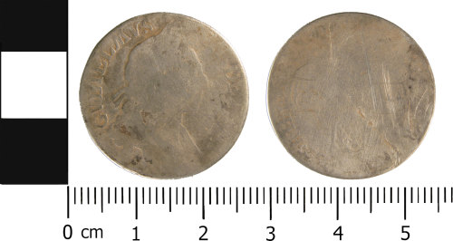 WMID-F0F39F: Post Medieval coin: Shilling of William III