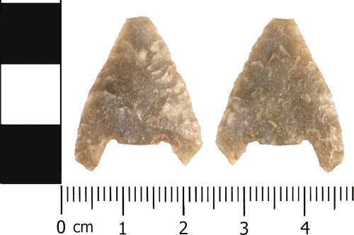 WMID-975903: Late Neolithic to Early Bronze Age: Incomplete barbed and tanged arrowhead