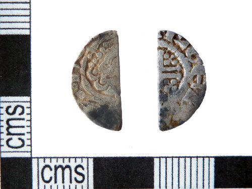 PUBLIC-15B878: Medieval coin: Cut halfpenny of John