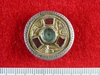 Gold and garnet Saxon brooch from Lympne, Kent obverse