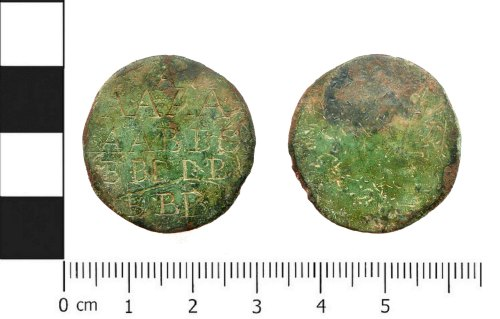 PUBLIC-FFB8D5: Post-medieval adapted copper halfpenny