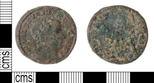 KENT-062E8D: Nummus of Severus II GENIO POPVLI ROMANI,