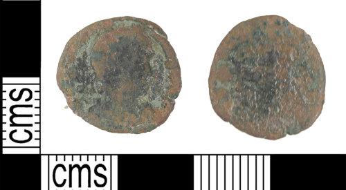 KENT-19DABF: Roman nummus probably SECVRITAS REI PVBLICAE