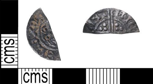KENT-3A3030: Cut halfpenny of henry III