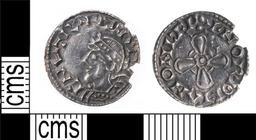 KENT-421146: Penny of Harthcnut minted at lewes
