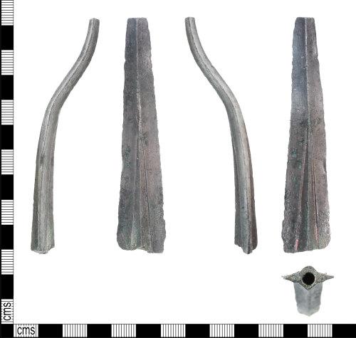 KENT-68BED7: Fragment of huge Bronze Age spear