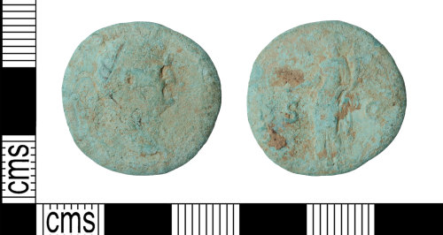 KENT-6C2CF1: Roman Dupondius of Vespasian