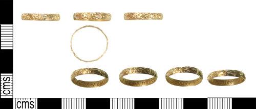 KENT-6E645C: Gold enamelled 17th century posey ring