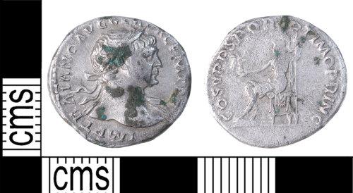 KENT-7178CE: Denarius of trajan