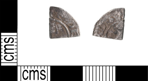 KENT-7D1A0E: Cut quarter Farthing of Edward the Confessor