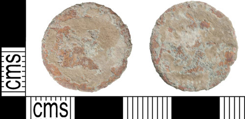 KENT-896BBD: Heavily worn nummus of uncertain ruler