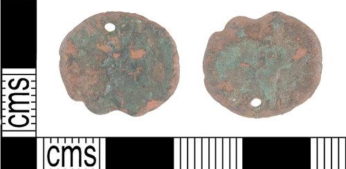 KENT-8C1367: Perforated Roman Radiate of Victorinus