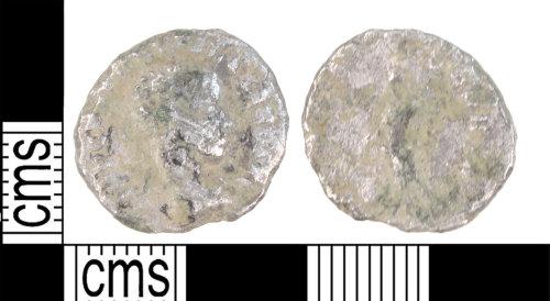 KENT-A7A4BE: An illegible silver roman Denarius