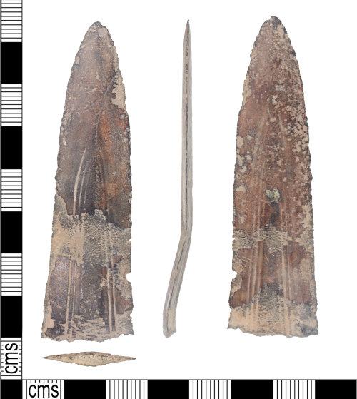 KENT-AEA581: Fragment of Middle Bronze age dirk/dagger