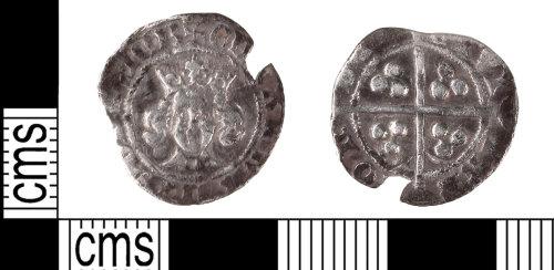 KENT-C11F61: Edward III transitional penny