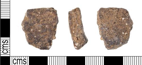 KENT-D3826E: Fragment of handmade prehistoric pottery