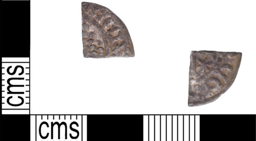 KENT-F2B016: Cut farthing in the name of William I of Scotland