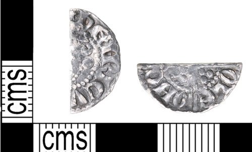 PUBLIC-D63CA0: Voided long Cross penny from Canterbury