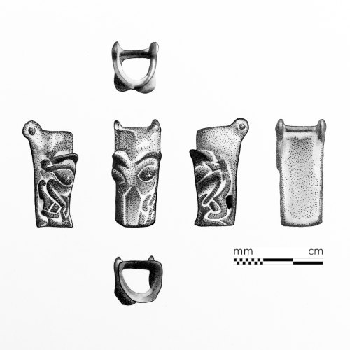 A resized image of Illustration of a gaping mouth buckle by M.Scott Portrait Art Illustrations