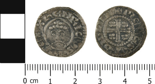 WMID-1F9264: Medieval penny of Henry II (obverse and reverse)