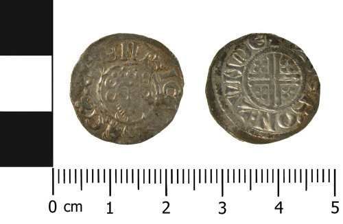 WMID-32185A: Medieval coin: silver penny of Henry III (obverse and reverse)