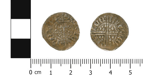 WMID-3E9FCA: Medieval coin: penny of Henry III (obverse and reverse)