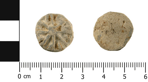 WMID-45886D: Medieval to Post Medieval Lead token (obverse and reverse)
