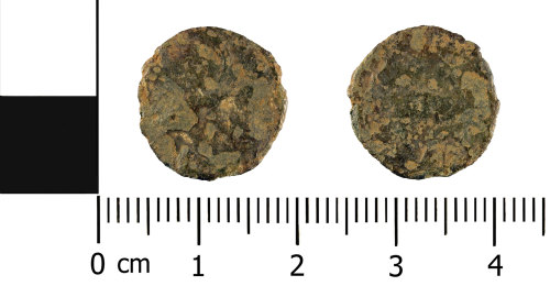 WMID-4F19FE: Roman coin: nummus of the House of Constantine (obverse and reverse)