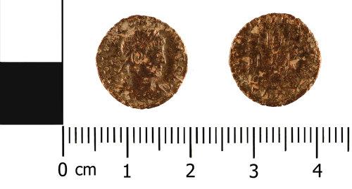 WMID-6022E4: Roman copper alloy nummus of Constans (obverse and reverse)