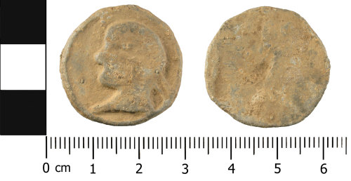 A resized image of Later medieval to post-medieval lead alloy token (front and reverse)