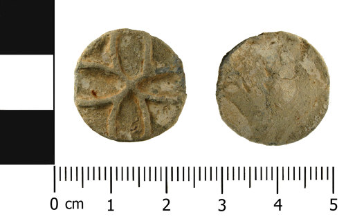 WMID-D85EFF: Medieval - Post Medieval lead alloy token (front and reverse)